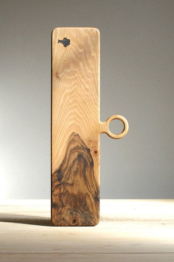 Walnut Serving Board Modern Design Gift For Men Rustic Etsy