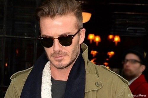 Looking for a similar pair of black sunglasses as the one David Beckham is wearing