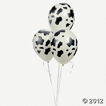 Cow Print Latex Balloons