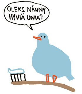 "Illustration by Ulrika Nilsson. Published in ""Swedish-Tornedal phrase book and dictionary""."