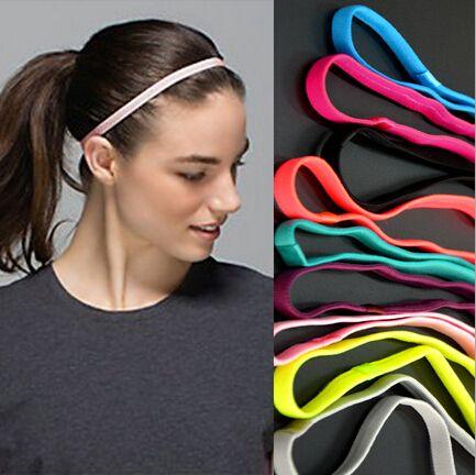 1ピース薄いスポーツ弾性カチューシャソフトボールサッカーヘアバンドゴム滑り止め女性ヘアアクセサリー包帯シュシュ