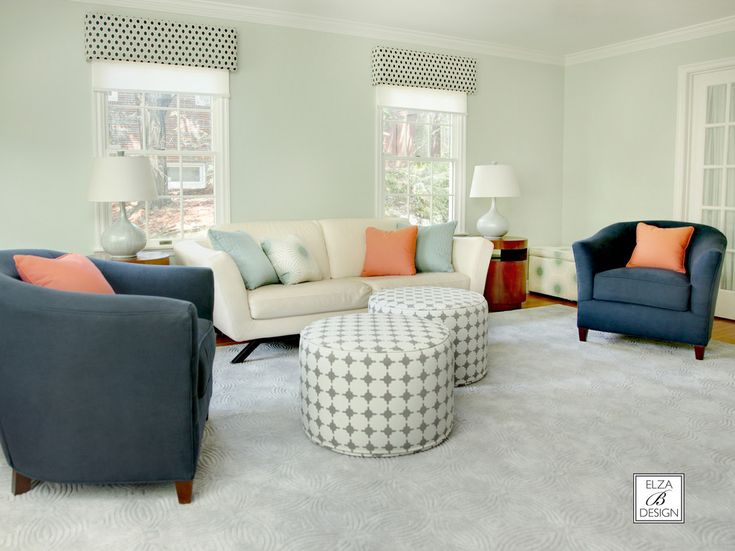 Mint Green Wall Paint Living Room Contemporary With Child Friendly Dark Blue