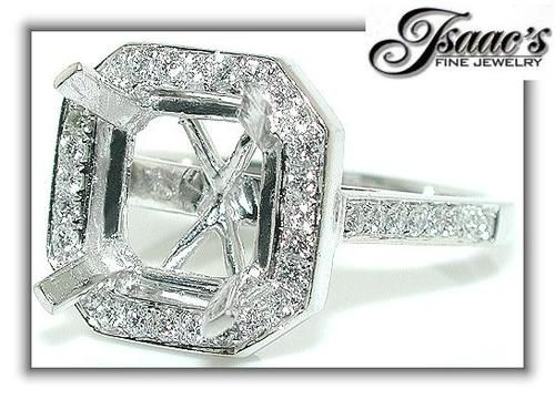 Love this octagon halo ring!