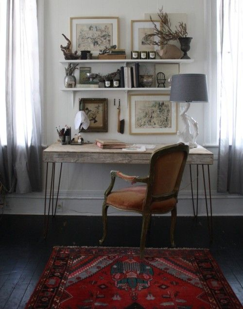 desk love. via design sponge