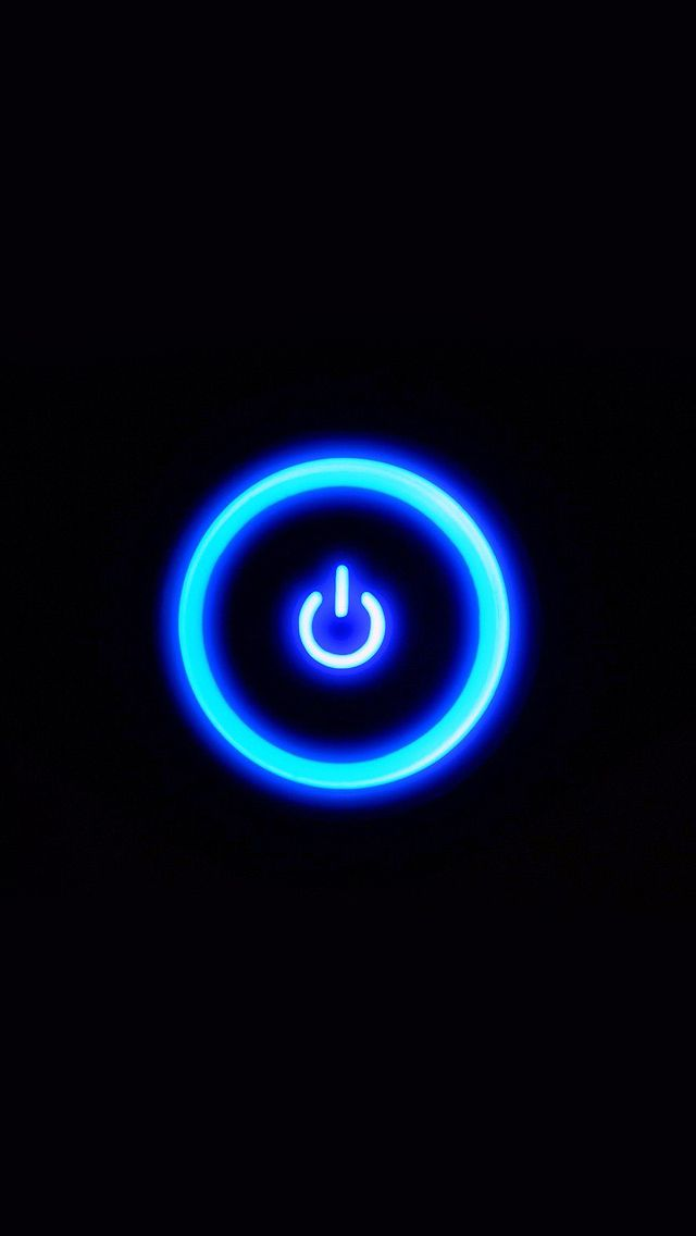 ↑↑TAP AND GET THE FREE APP! Art Creative Power Button Cool Black Minimalistic HD iPhone Wallpaper