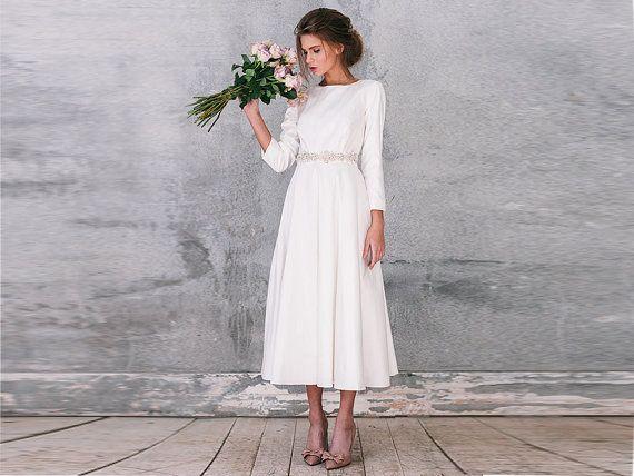 long sleeve wedding dress with sleeves wedding by VICTORIASPIRINA