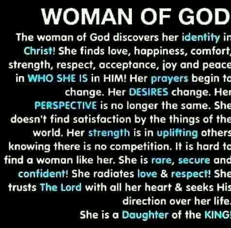 Woman of God, the Bible is still being written so submit fully to becoming an instrument of His perfect Will.