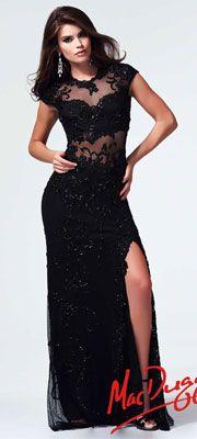 Great Gatsby 1920s prom dress: Mac Duggal 2014 Prom Dresses - Black Beaded Cap Sleeve Prom Dress $538.00 #greatgatsby #prom