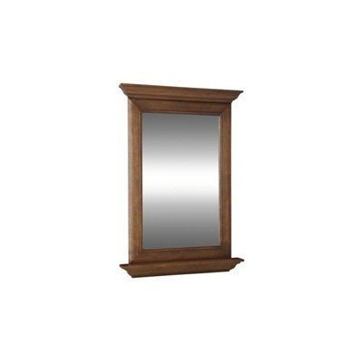 Photos On Ballantyne Mocha Ebony Glazed Rectangular Bath Mirror Features crown moulding and shelf Suggested for use