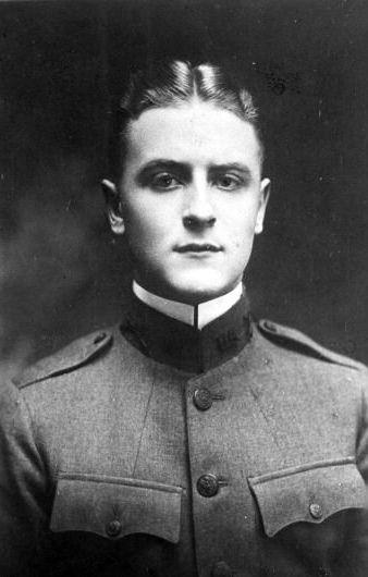 F. Scott Fitzgerald in uniform, about 1917