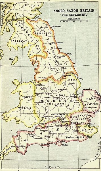 """Anglo-Saxon Britain """"The Heptarchy""""    useful for Bernard Cornwell's Saxon Stories"""
