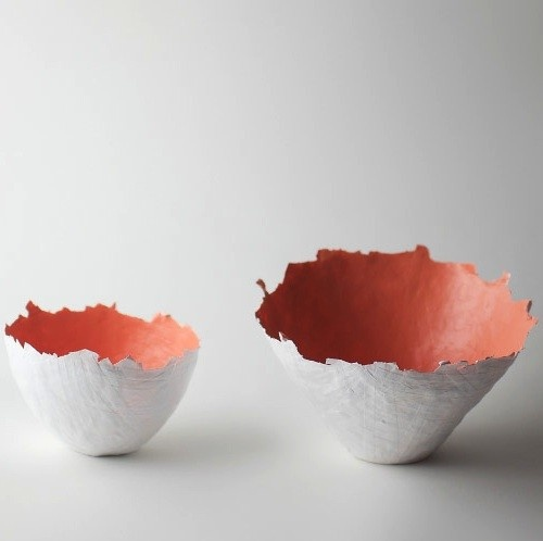 Peach Color Burst Bowl by upintheairsomewhere on Etsy, $52.00