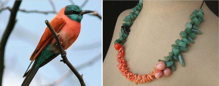 The Carmine Bee Eater Necklace