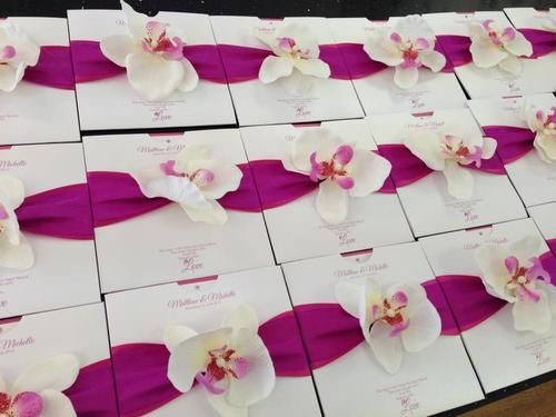 20 Personalised Orchid Wedding Invitations | eBay