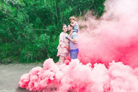 ORIGINAL Pink (x2) Set - Pink Set Gender Reveal Smoke Bomb Bombs Fountain Canister Newborn Baby Shower Wedding Photography from hammypie on Etsy Studio