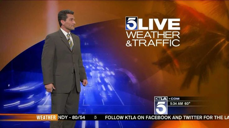 KTLA 5 Weather Man Henry DiCarlo--Birthday shout out to Aaron Rodriguez