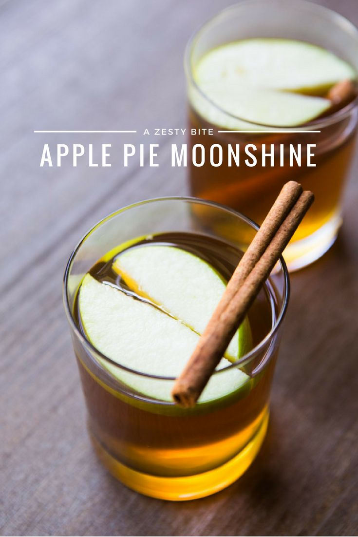 Start your party off with this simple Apple Pie Moonshine cocktail! It's sweet, delicious and the perfect beverage for the holidays.