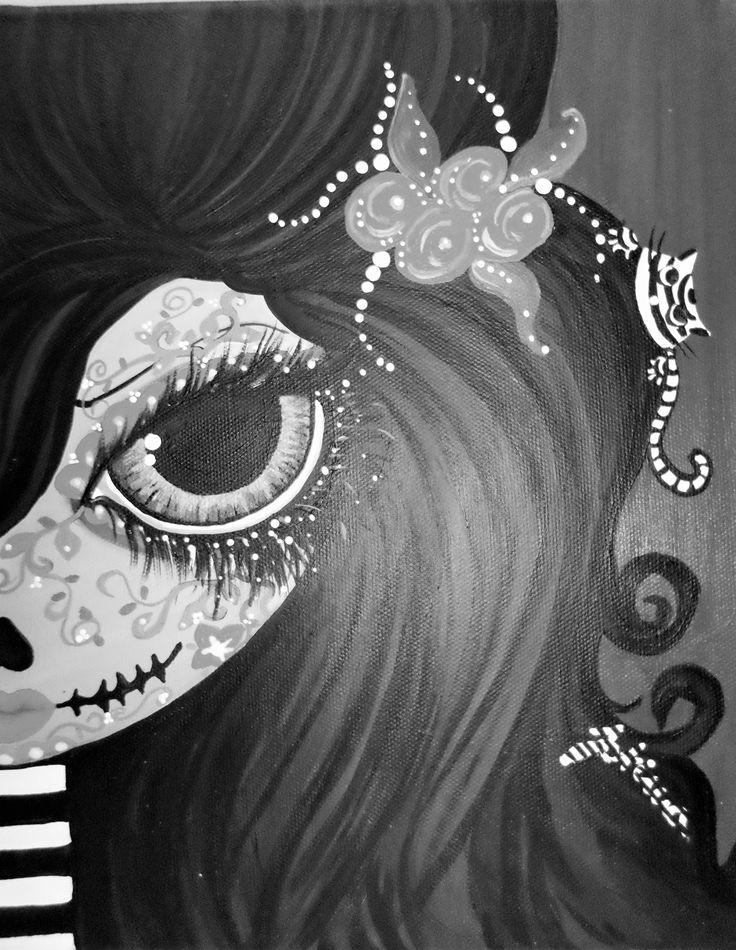 Chica calavera, dias de los muertos, calavera, mae up skull girl.....