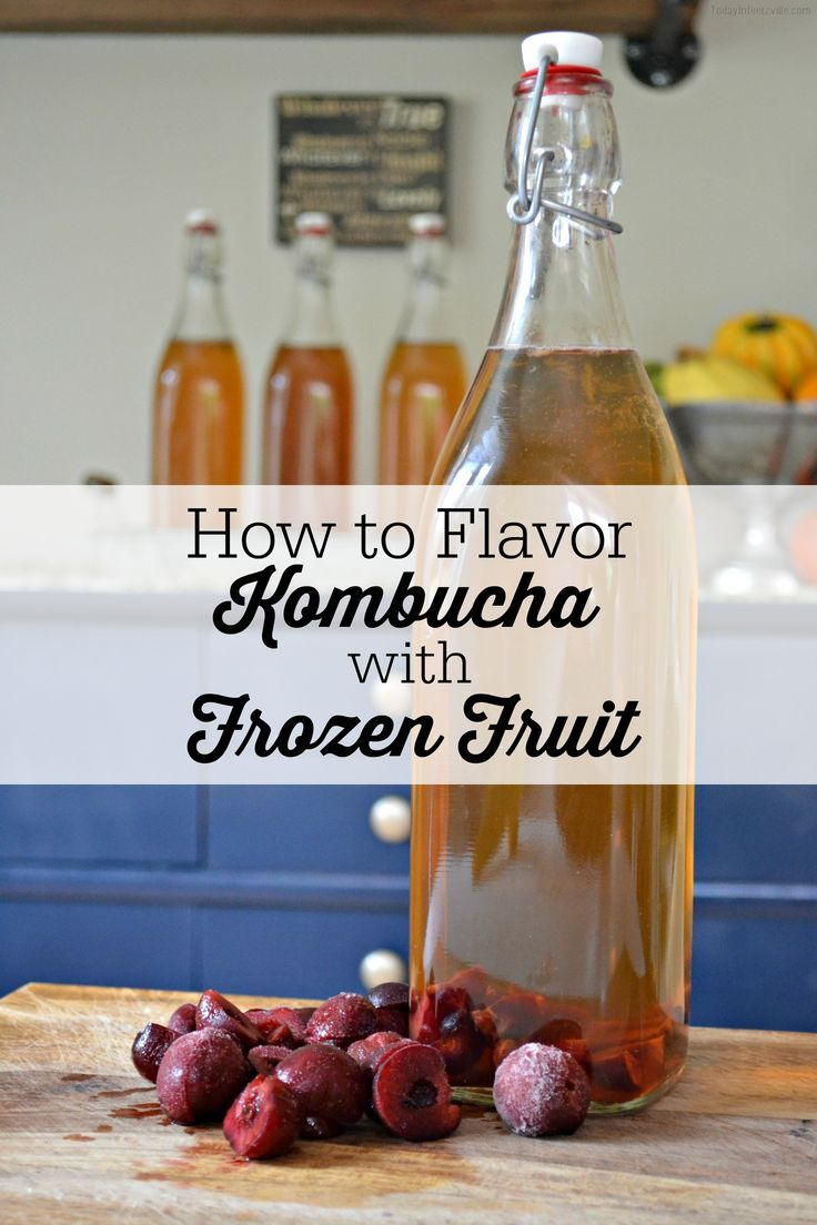 I just want to make my guts happy... And my most favorite way to do this is with my favorite fermented drink: KOMBUCHA! Learn how easy it is to flavor your kombucha with frozen fruit! | TodayInDietzville.com