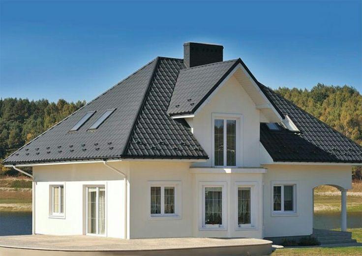 посередине сочетание цветов крыши и фасада дома фото домашних условиях также