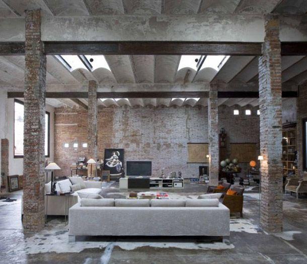 17 best ideas about industrial loft apartment on pinterest studio loft apartments loft spaces - Loft design industriel cloud studio ...