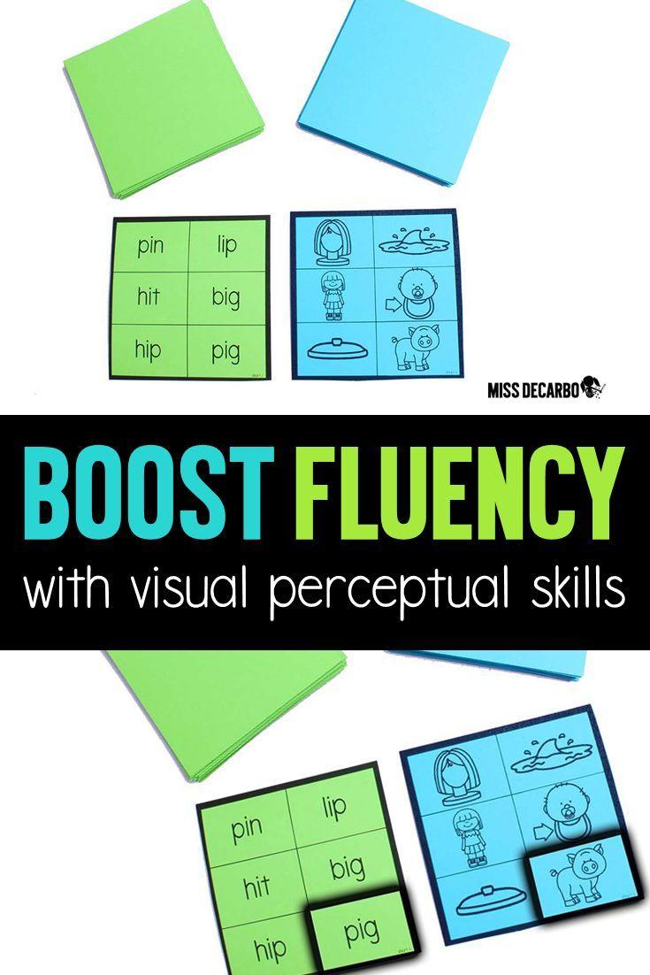 How Visual Perceptual Skills Relate To Reading Miss Decarbo Reading Fluency Games Reading Fluency Word Work Activities