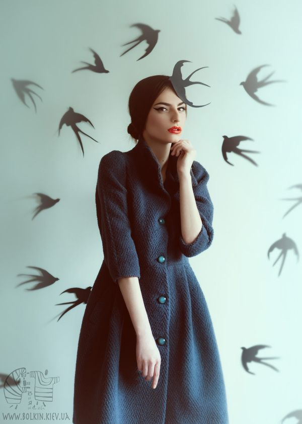 the first Swallow for Harper's Bazaar Fashion Forward by Viсtoria Bolkina, via Behance