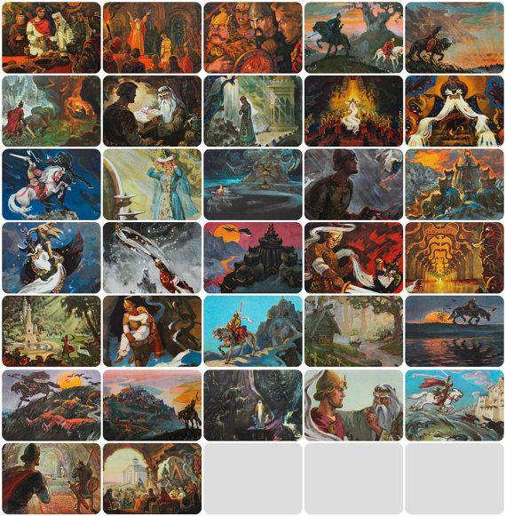 Illustrator Vladimirsky. Set of 32 Vintage от RareBooksAndMore