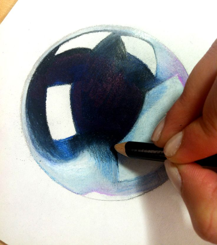 How-to: Create a Chrome effect with Prismacolor