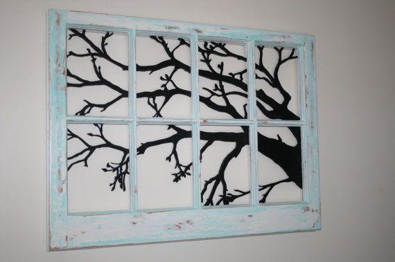 Antiqued Window Frame