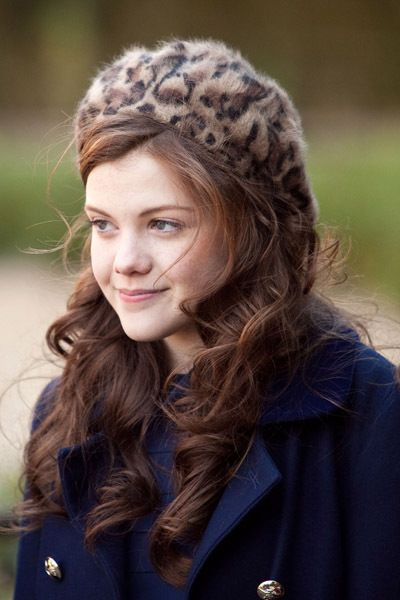 Georgie Henley; I love her hair and that beret is super cute.