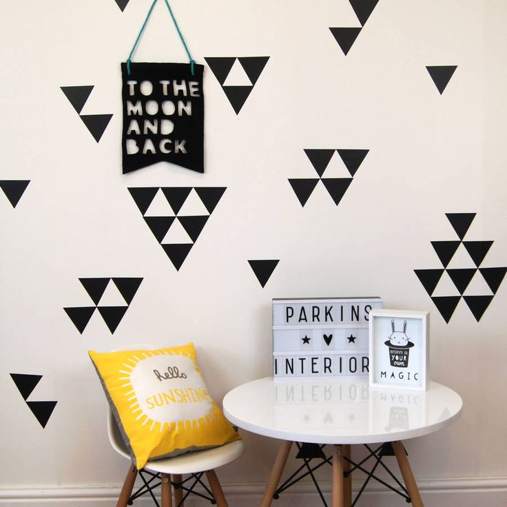 triangle wall stickers by parkins interiors | notonthehighstreet.com