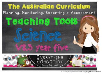 Year 5 Science v8.3 Australian Curriculum Package by Emma Bancroft   Teachers Pay Teachers