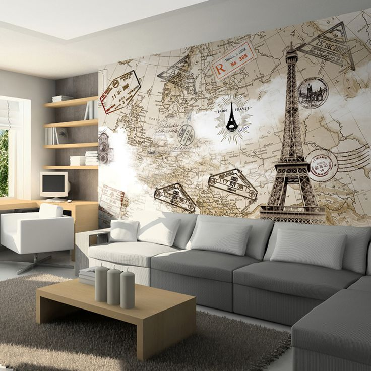 Free shippin Tv background wall mural 3d wallpaper fashion Paris tower  3d murals wallpaper for walls tv background