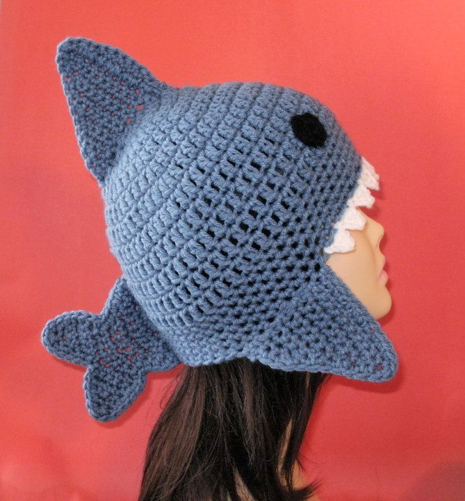 Shark Earflap Hat.