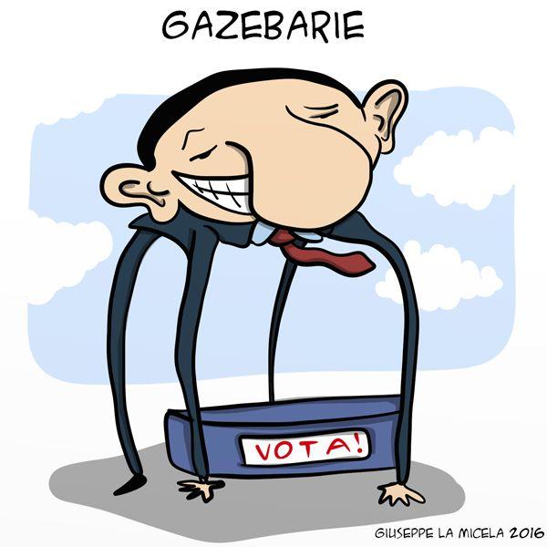 Le Gazebarie di faccia...di bronzo #IoSeguoItalianComics #Satira #Politica #Bertolaso #ForzaItalia #Roma #italy