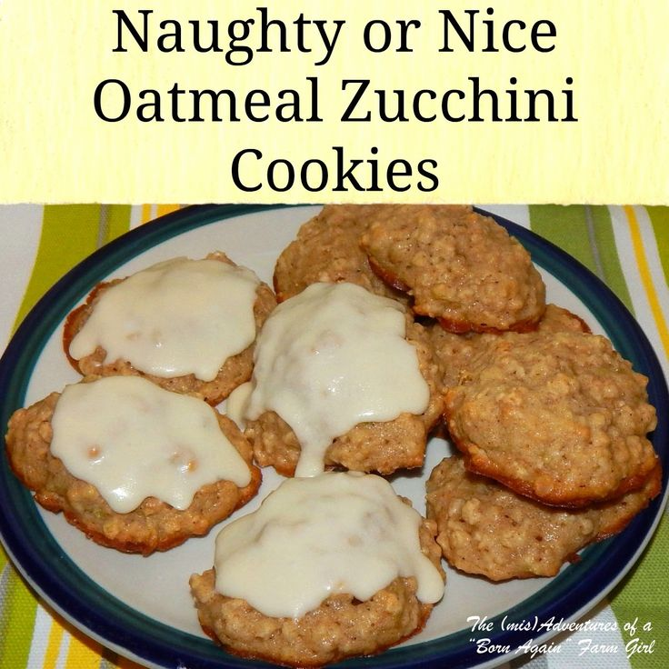 Oatmeal Zucchini Cookies