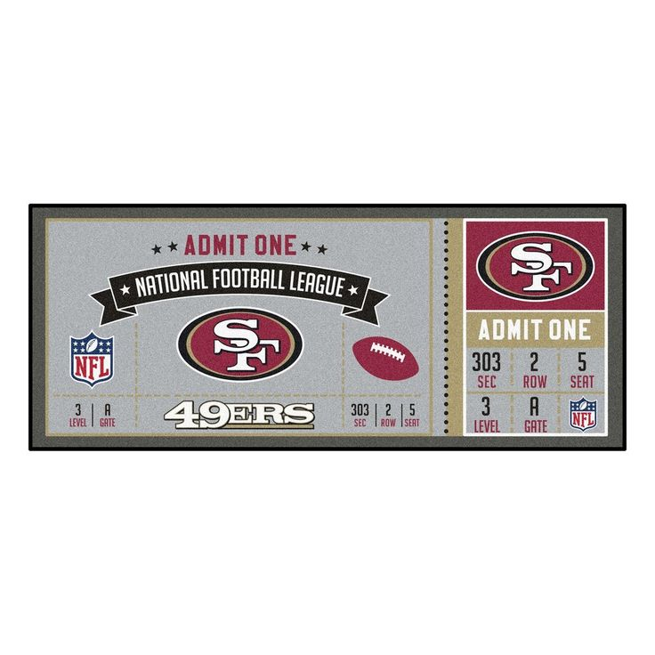 "NFL - San Francisco 49ers Ticket Runner 30""x72"""