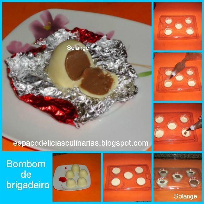 Bombom recheado de brigadeiro - Espaço das delícias culinárias