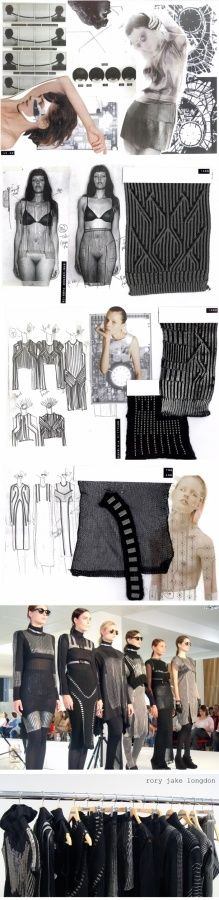 fashion sketchbook drawings, fashion moodboard, fashion design development and final fashion knitwear collection