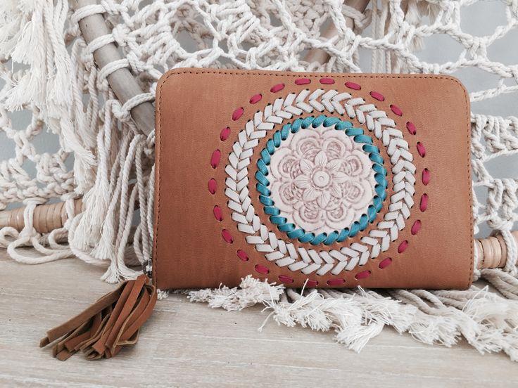Boho leather Wallet #leatherwallet