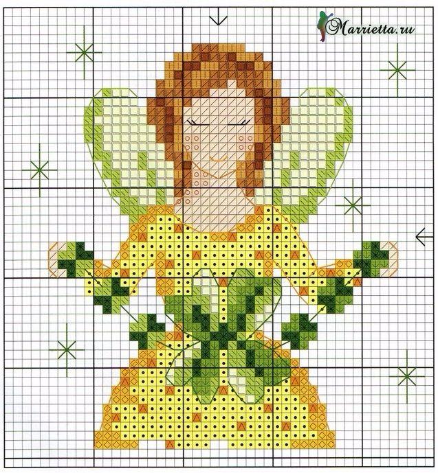 Цветы и цветочные феи для декора цветочных горшков. Вышивка (6) (637x689, 624Kb)