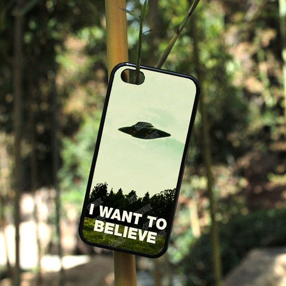 I Want To Believe UFO Aliens For iPhone 4, iPhone 5, or iPhone 5c in Plastic*, Rubber or Heavy Duty