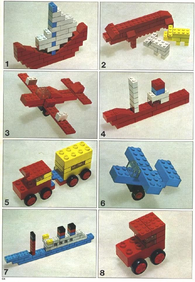 Lego blue prints