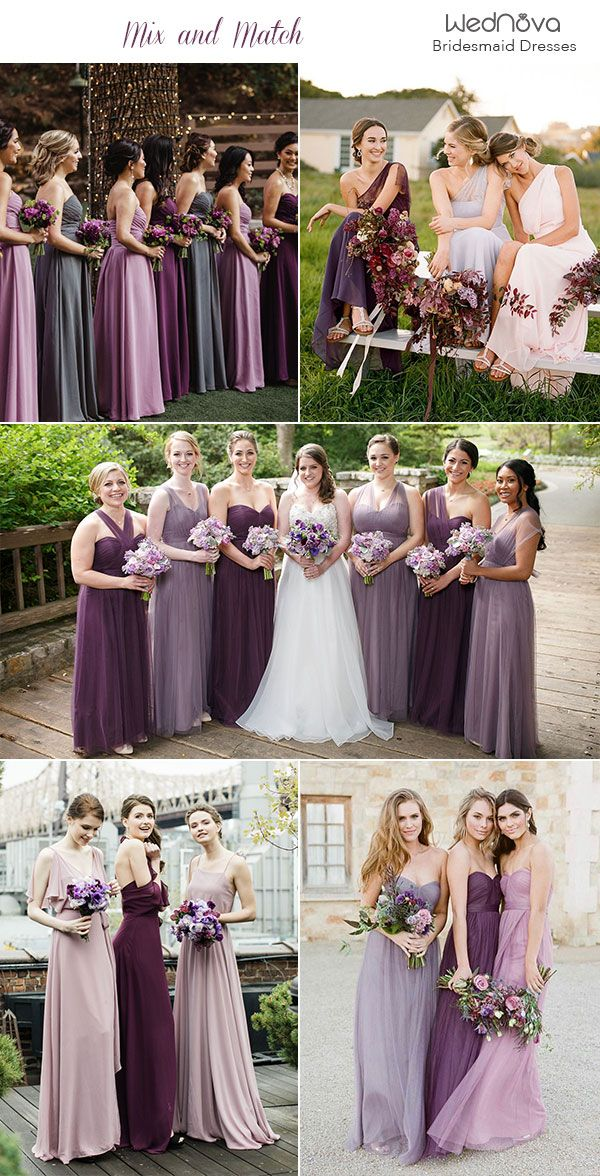 14 Mismatched Bridesmaid Dresses Color Palettes From Real Weddings