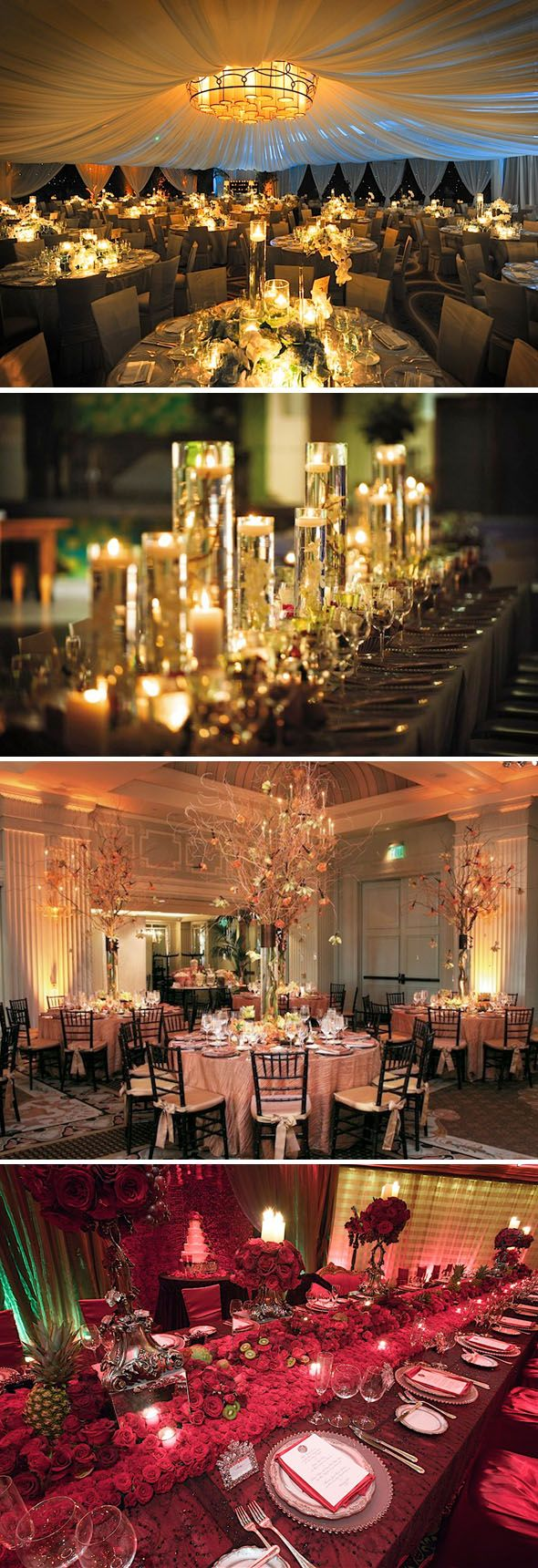 Candlelight & Centerpieces #Luxury #Wedding #Centerpieces