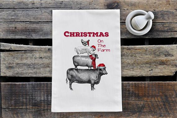 Check out this item in my Etsy shop https://www.etsy.com/ca/listing/567768279/christmas-on-the-farm-tea-towel
