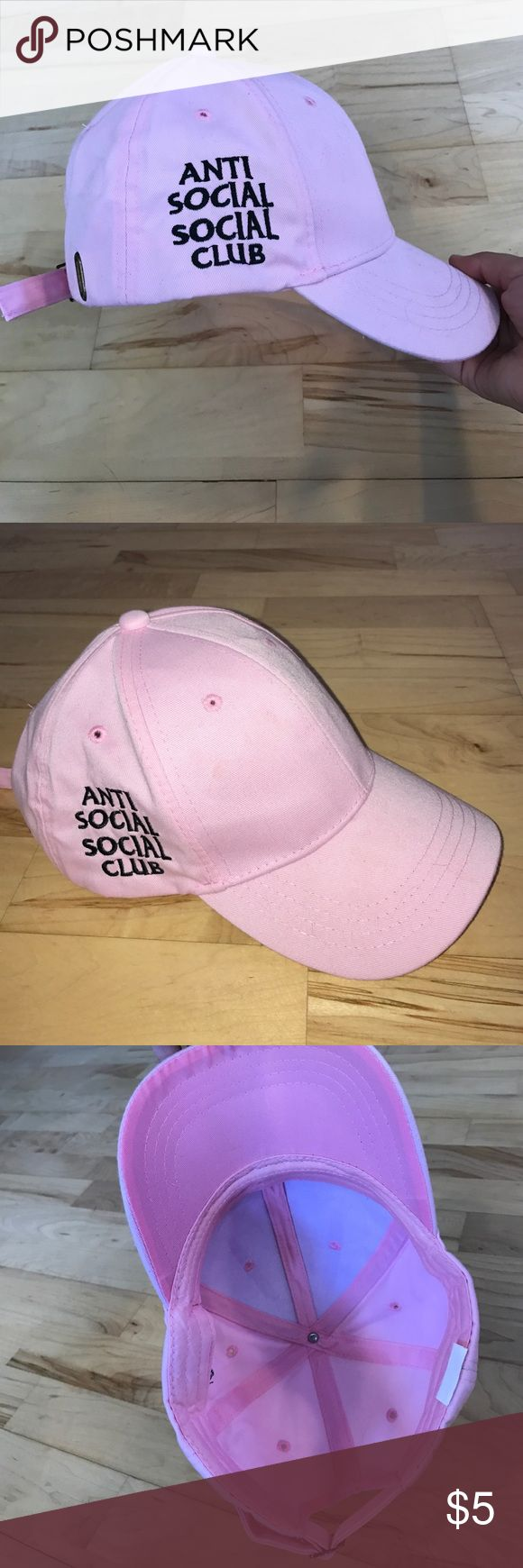 Anti Social Social Club Dad Hat Pink knockoff antisocial social club dad hat. Never worn. Purchased online from third party seller and the super deep hat size didn't fit well. NWOT none Accessories Hats