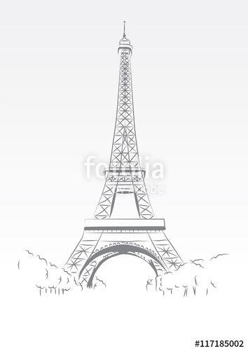 """Pobierz grafikę wektorową royalty free  """"Eiffel Tower"""" autorstwa Ornavi w…"""