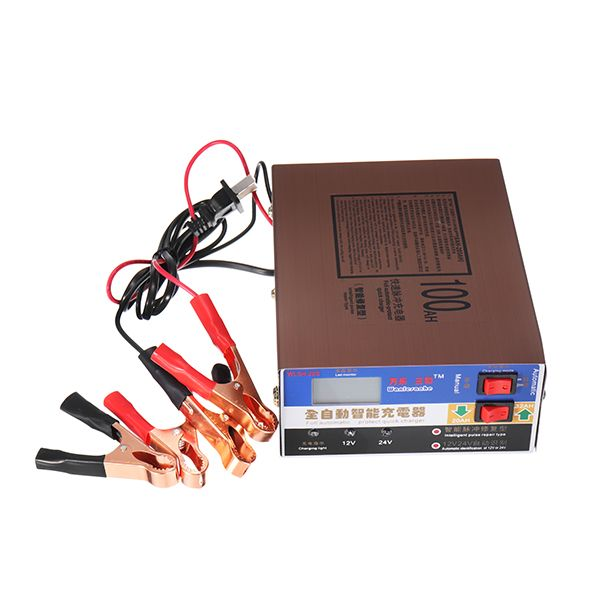 Car Battery Charger 12V 24V Volt Motorcycle Pure Copper Smart Pulse Repair Battery Auto Charger